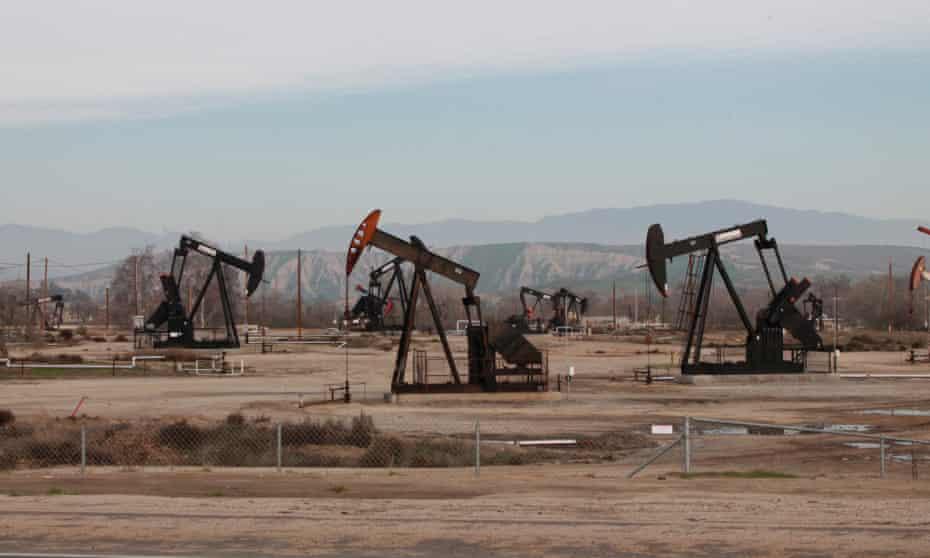 Bakersfield, California oil fields.