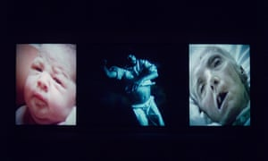 Bill Viola's Nantes Triptych (1992) video/sound installation.