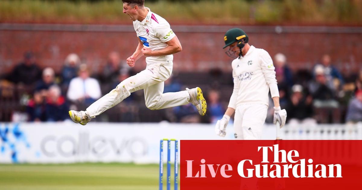 County cricket day one: Benjamin scores ton on Warwickshire debut to dominate Lancashire