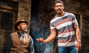 Lenny Henry and Aaron Pierre in King Hedley II by August Wilson.