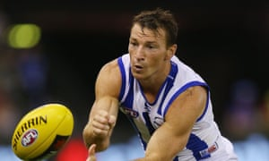 North Melbourne champion Brent Harvey has always provided plenty of visual humour for Cometti.