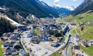An aerial view of the village of Ischgl, a tourism hotspot.
