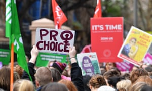 Reproductive Health Care Reform Bill protest in Sydney