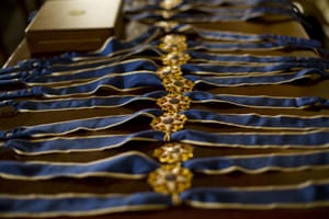 medals on table