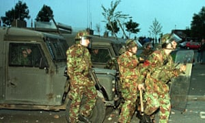 During the Troubles the British army deployed 21,000 troops in Northern Ireland.