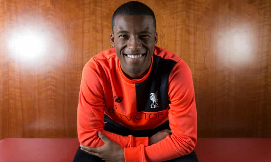 Georginio Wijnaldum says of his first season at Liverpool: 'I'm probably enjoying it now more than I did before because I have seen the other side of football where I was losing a lot of games and got relegated.'