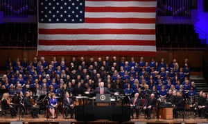 A choir performed The Battle Hymn of the Republic at the Trump rally.