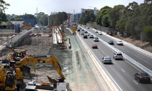 The WestConnex project will widen parts of the M4 motorway.
