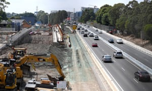 Construction of the M4 extension in Sydney on Jan. 29, 2017.