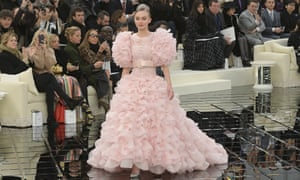 Model Lily-Rose Depp walks the runway during the Chanel haute couture spring/summer 2017 show