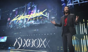 Keanu Reeves launches Cyberpunk 2077.