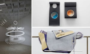 Hepworth Prize for Sculpture: works by, clockwise from left, Cerith Wyn Evans, Phillip Lai and Magali Reus.