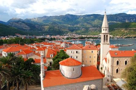 Rooftops in Budva in Montenegro