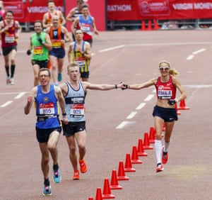 Paula Radcliffe and Rob Danson