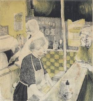 David Hockney's Fish and Chip Shop (1954)