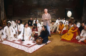 Peter Brook in rehearsals for Mahabharata at the Bouffes du Nord in Paris.