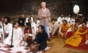 Peter Brook directs a rehearsal of his Mahabharata at his Bouffes du Nord theatre in Paris.