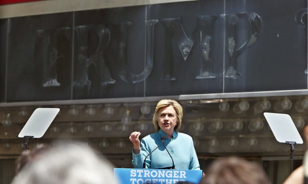 Hillary in Atlantic City takes on Donald's Faux Business Record