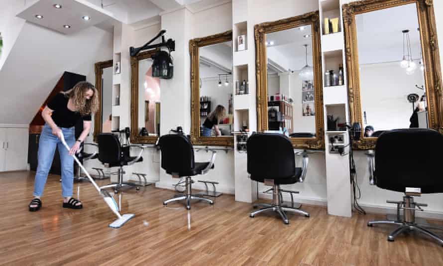 Lara Wallace owner of LDW Hair Salon prepares to open her salon in Stoke-on-Trent