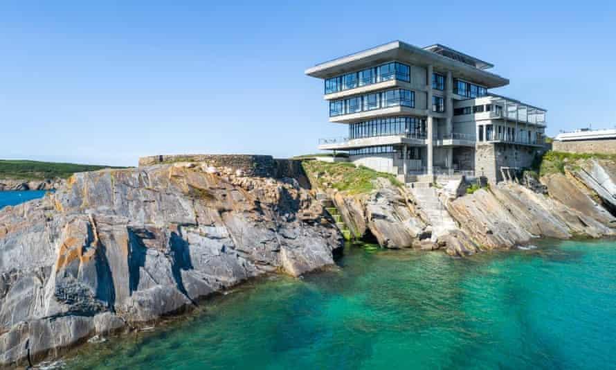 Sainte Barbe hotel on rocks over sea