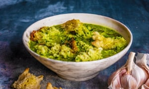 Chicken, garlic and parsley broth, by Simon Hopkinson. 20 best meals for one. Food stylist Polly Webb-Wilson.
