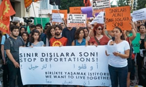 Protest against refugee deportations in Istanbul in August