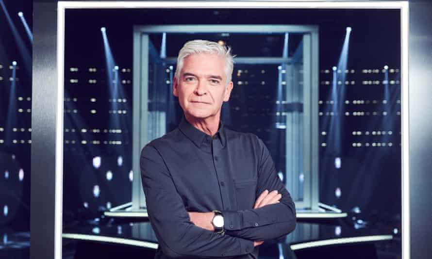 Lockdown bubble ... Phillip Schofield, host of ITV's The Cube.