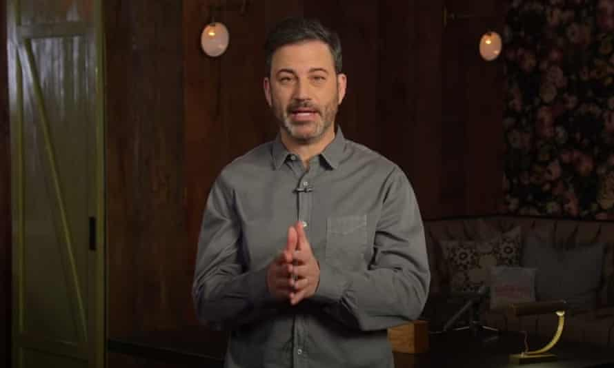 """Jimmy Kimmel on protests to end physical distancing: """"I'm starting to think these characters who support Trump might be suicidal - they seem to fight hardest for the things that will kill them. They want freedom to gather in large groups during an epidemic, they want guns, they want pollution."""""""