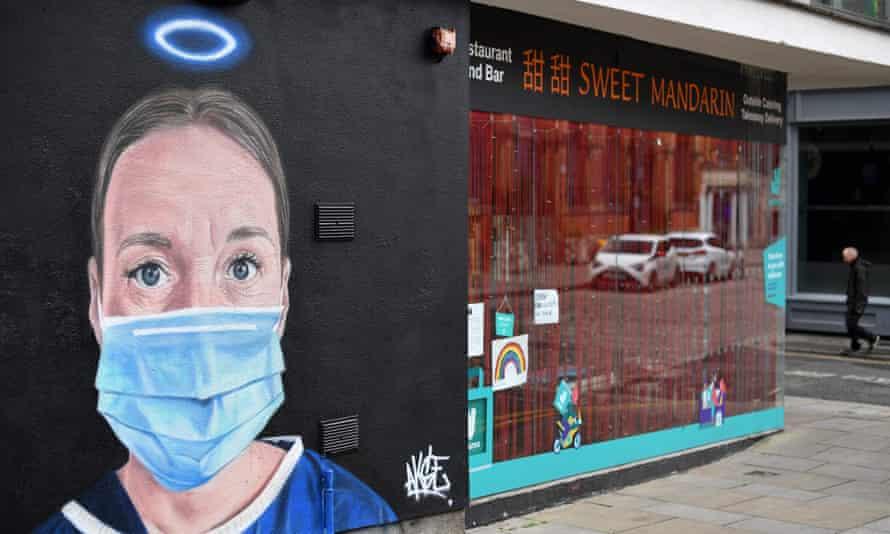 street art showing a nurse