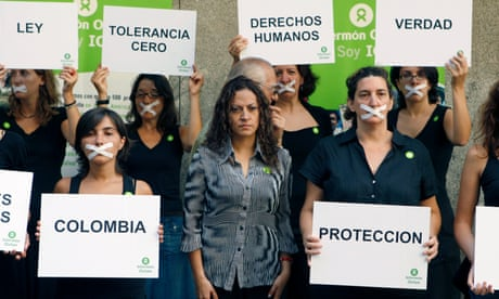 Jineth Bedoya, center, Colombian journalist and sexual violence victim, will have her case heard in international court.