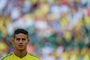 James Rodriguez, missed out on the final game against England.