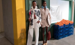 Models in Jacquemus tailoring