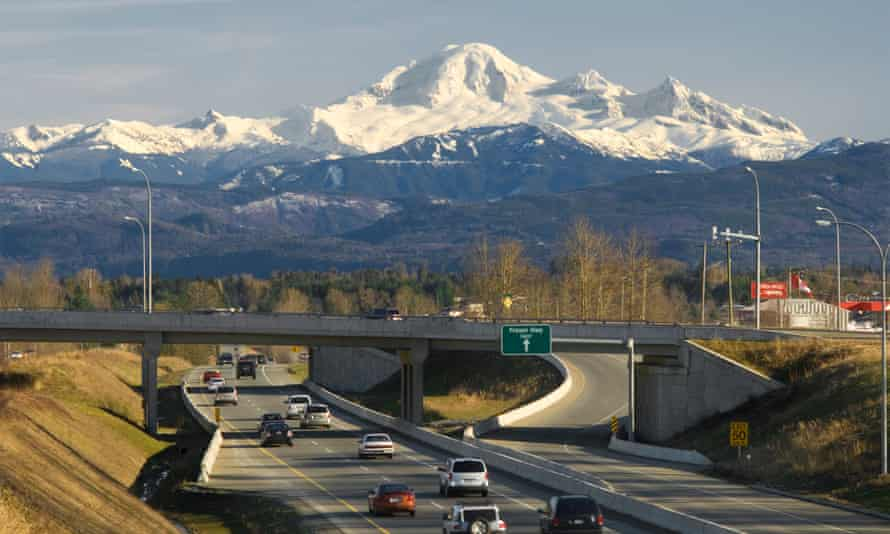 Mount Baker lords it over the Trans Canada highway