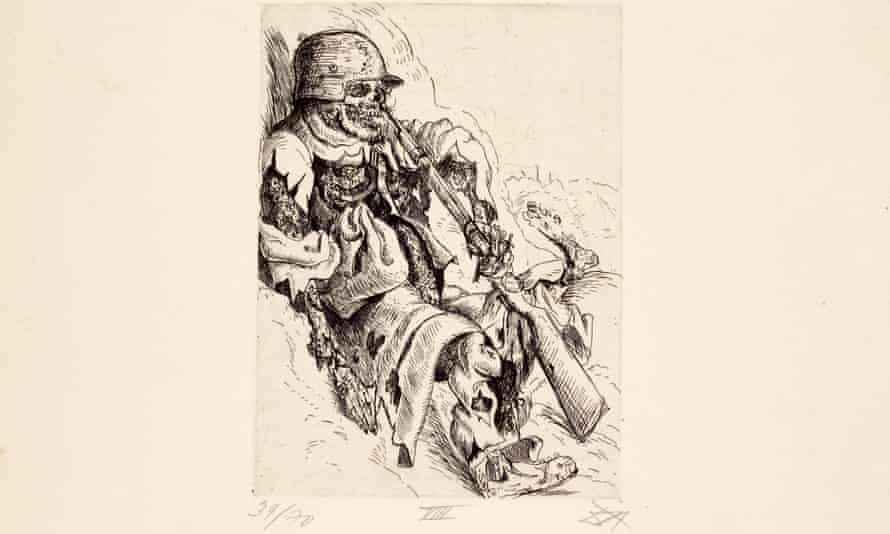 An etching from Otto Dix's Der Krieg portfolio, a highlight of the collection to be auctioned in March.