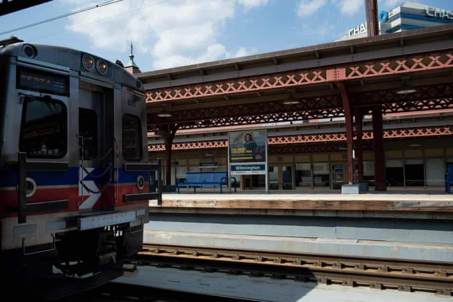The Joseph R Biden Jr railroad station, an Amtrak train station in Wilmington, Delaware.