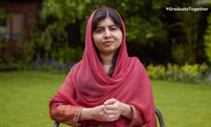 Malala Yousafzai speaks during Graduate Together event in May.