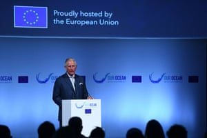 Prince Charles at oceans conference