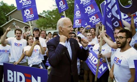 Biden pulls ahead in new poll while Warren draws huge crowd in midwest – live news