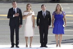 Jair Bolsonaro, Michelle Bolsonaro, Hamilton Mourao, Paula Mourao