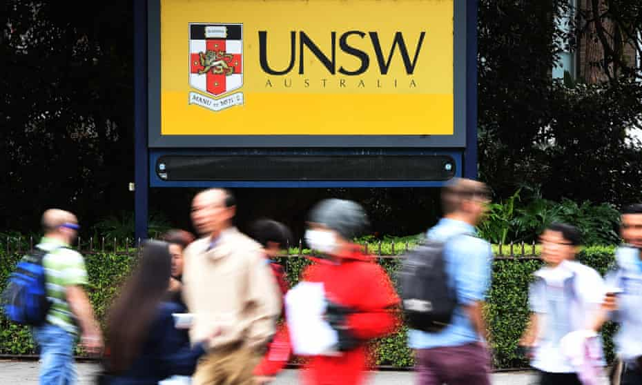 Students enter the University of New South Wales in Sydney
