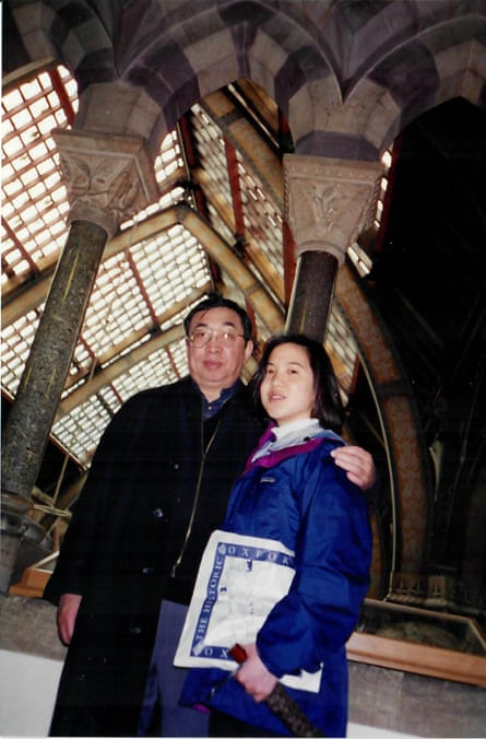 Angela Duckworth with her father at Oxford.