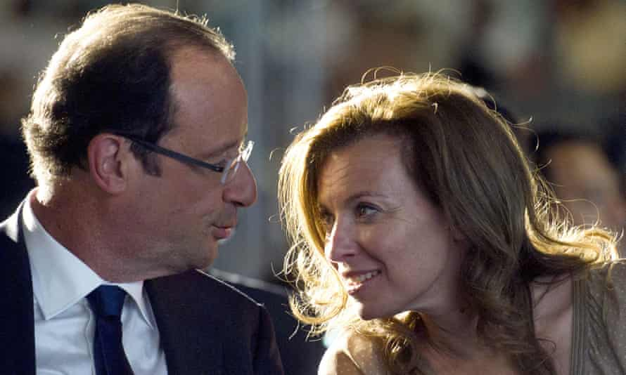 François Hollande and his ex-partner Valérie Trierweiler.