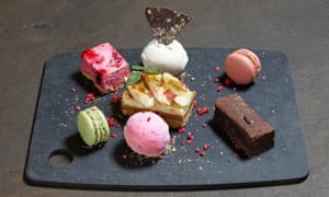 'Naturally, it comes on a slate': dessert sharing platter.