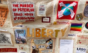 A tapestry created by the Peterloo Memorial Campaign Group in 2017.