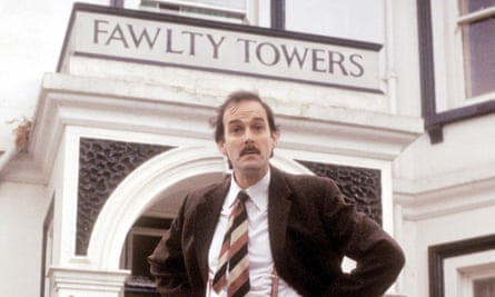 John Cleese as Basil Fawlty in the BBC sitcom.