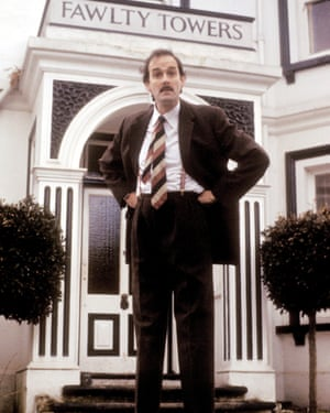 John Cleese as Basil Fawlty in Fawlty Towers.