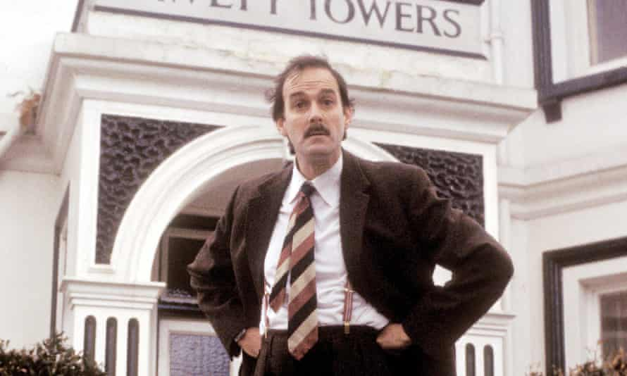 John Cleese in the 1970s BBC sitcom Fawlty Towers.