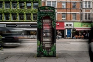 A Post Office telephone kiosk on Southampton Row
