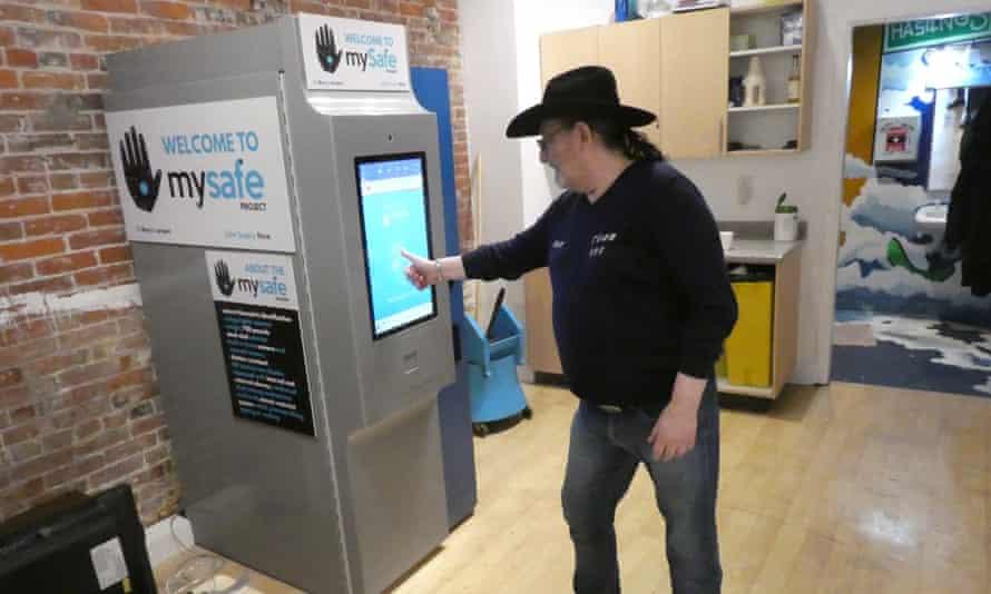 Don Durban uses the opioid vending machine