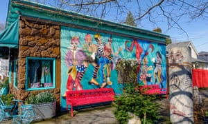 A shop in the arts-and-crafty Alberta district.